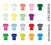 large set of t shirts | Shutterstock .eps vector #1081385834