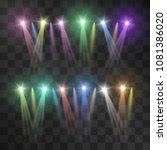 colorful festive ray soffits on ... | Shutterstock .eps vector #1081386020