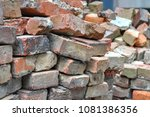 Stacks Of Old Red Brick Pavers...