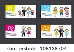 labels with families over gray... | Shutterstock .eps vector #108138704