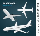 airplane flat style... | Shutterstock .eps vector #1081391159