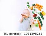 healthy child nutrition  food...   Shutterstock . vector #1081398266