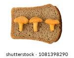 three mushrooms chanterelles on ...   Shutterstock . vector #1081398290