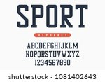 Sport Font  Original College...