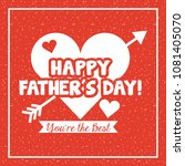 happy fathers day   Shutterstock .eps vector #1081405070