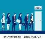 unemployment the digital age.... | Shutterstock .eps vector #1081408724