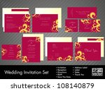 complete set of wedding... | Shutterstock .eps vector #108140879