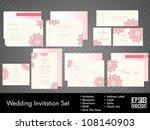 complete set of wedding...   Shutterstock .eps vector #108140903