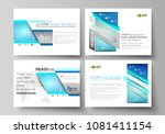set of business templates for... | Shutterstock .eps vector #1081411154