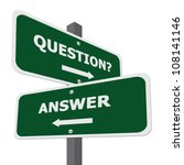 green question and answer... | Shutterstock . vector #108141146