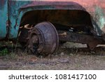 aged truck rusted in abandoned...   Shutterstock . vector #1081417100