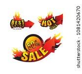 the set of burning labels... | Shutterstock .eps vector #1081420670