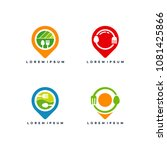set of food point logo designs... | Shutterstock .eps vector #1081425866