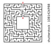 abstract square maze.... | Shutterstock .eps vector #1081426988