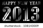 happy new year 2013 | Shutterstock .eps vector #108143009
