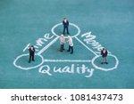 business miniature people... | Shutterstock . vector #1081437473
