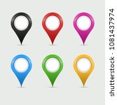 multicolored map markers or... | Shutterstock .eps vector #1081437974