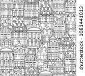 hand drawn seamless pattern of... | Shutterstock .eps vector #1081441013