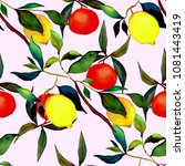 watercolor seamless pattern... | Shutterstock . vector #1081443419