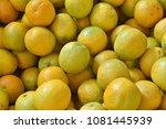 fruit wallpaper  pile of fruit   Shutterstock . vector #1081445939