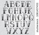 vector font tattoo old school ... | Shutterstock .eps vector #1081457453