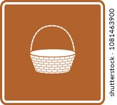 empty wicker basket sign | Shutterstock .eps vector #1081463900
