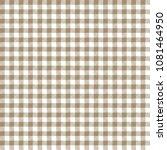 tan gingham seamless pattern  ... | Shutterstock .eps vector #1081464950