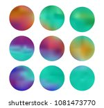 colorful circle gradient set... | Shutterstock .eps vector #1081473770