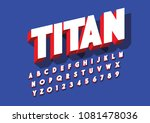 vector of colorful bold font... | Shutterstock .eps vector #1081478036