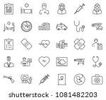 thin line icon set   heart... | Shutterstock .eps vector #1081482203
