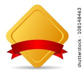 golden emblem with ribbon ... | Shutterstock .eps vector #108148463