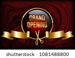 grand opening design concept.... | Shutterstock .eps vector #1081488800
