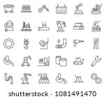 thin line icon set   factory... | Shutterstock .eps vector #1081491470