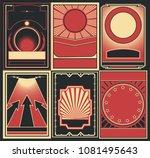 vector obey propaganda posters... | Shutterstock .eps vector #1081495643