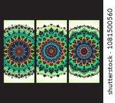 beautiful hand drawn indian... | Shutterstock . vector #1081500560