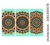 beautiful hand drawn indian... | Shutterstock . vector #1081500578