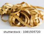 yellow ribbon for textile on... | Shutterstock . vector #1081505720