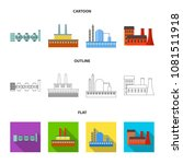 industry  production.factory... | Shutterstock .eps vector #1081511918