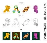 various kinds of scarves ... | Shutterstock .eps vector #1081512176