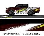 truck graphics vector. grunge... | Shutterstock .eps vector #1081515059