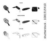 a fingerprint study  a folding... | Shutterstock .eps vector #1081515410