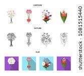 a bouquet of fresh flowers... | Shutterstock .eps vector #1081515440