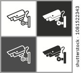 security camera sign  vector... | Shutterstock .eps vector #1081522343