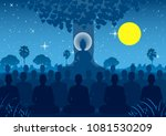 lord of buddha mediating with... | Shutterstock .eps vector #1081530209