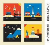travel landmark postcard... | Shutterstock .eps vector #1081533434