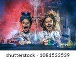funny school children doing... | Shutterstock . vector #1081533539