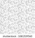 flower pattern. seamless white...   Shutterstock .eps vector #1081539560