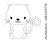 cute cat icon | Shutterstock .eps vector #1081543778