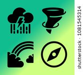 vector icon set about weather... | Shutterstock .eps vector #1081545314