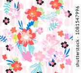 cute floral pattern . abstract... | Shutterstock .eps vector #1081547996